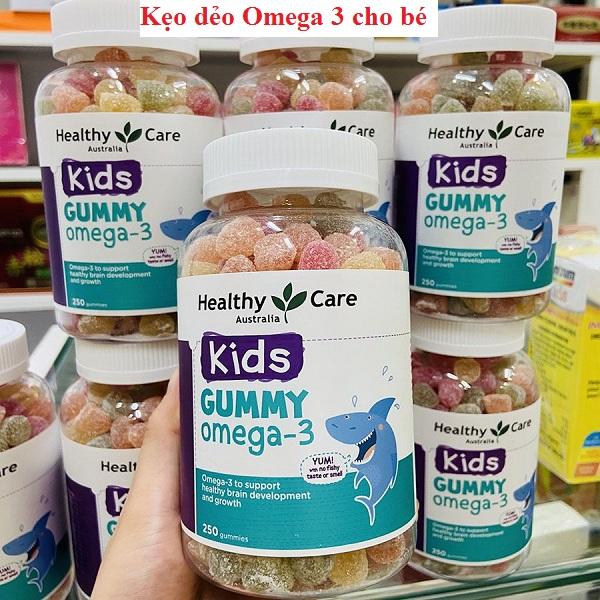 Kẹo dẻo Gummy Omega 3 Healthy Care Úc hộp 250 viên 1