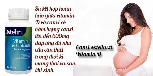 Ostelin Calcium & Vitamin D3 cho bà bầu - Hàng Úc mẫu mới 2