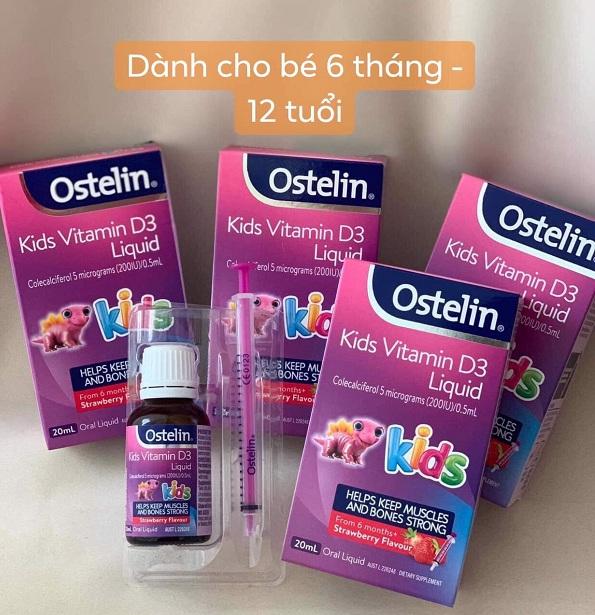 Vitamin D3 Ostelin dạng giọt của Úc cho bé từ 6 tháng 9