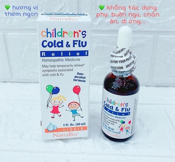 Siro trị cảm cúm Cold & Flu Natrabio 30ml của Mỹ cho trẻ em 1