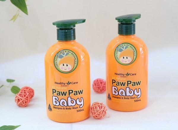 Sữa tắm gội Paw Paw Baby Úc Healthy Care chính hãng 1