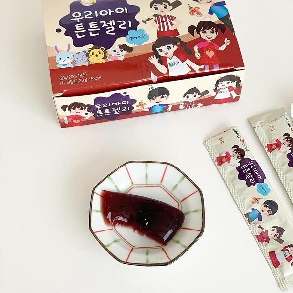 Thạch sâm Baby Sanga Hàn Quốc cho trẻ em - Hộp 14 gói 1