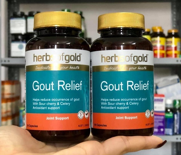 Viên uống Gout Relief Herbs Of Gold Úc- cho người bị gút 1
