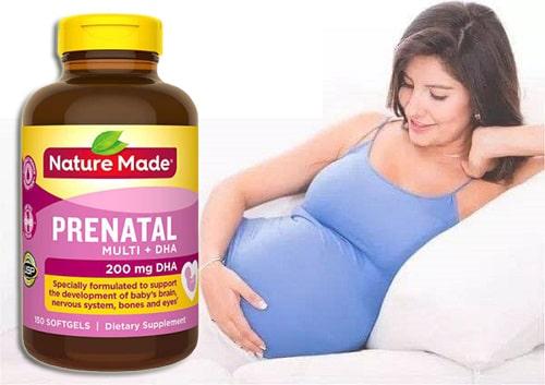 Viên uống Nature Made Prenatal Multi + DHA review-4