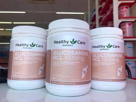 Glucosamine HCL 1500mg Healthy Care Australia 400 viên Úc 9