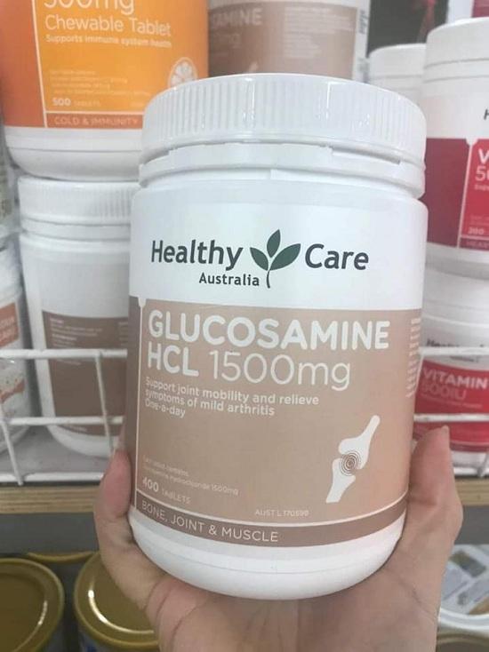 Glucosamine HCL 1500mg Healthy Care Australia 400 viên Úc 1