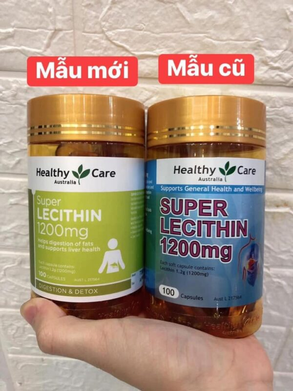 Mầm đậu nành Úc Healthy Care 100 viên Super Lecithin 1200mg 7