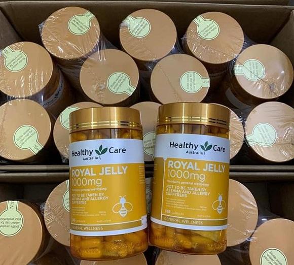 Sữa ong chúa Healthy Care mẫu mới Royal Jelly 1000mg Úc 7