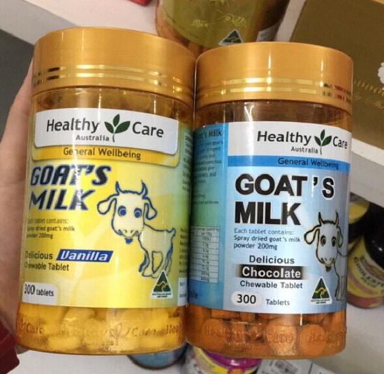 Viên sữa dê Goat Milk Healthy Care 300 viên của Úc, 2 vị 1