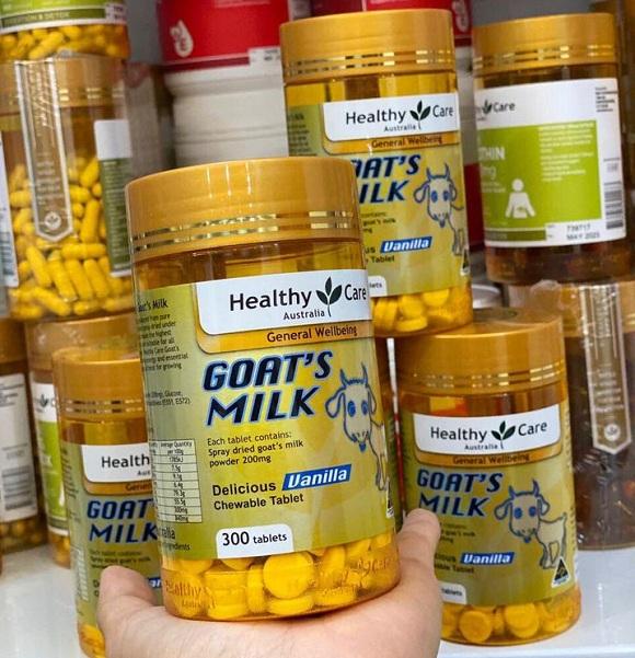 Viên sữa dê Goat Milk Healthy Care 300 viên của Úc, 2 vị 7