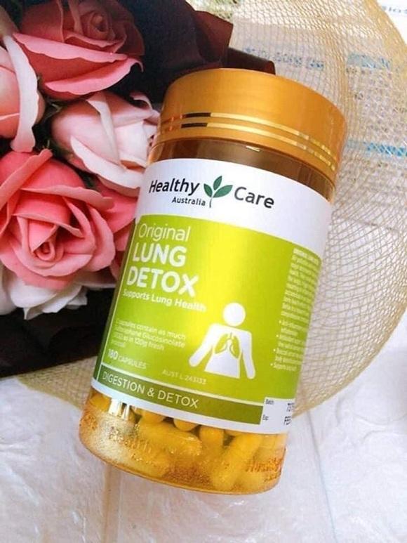 Viên uống giải độc phổi Lung Detox Healthy Care Úc mẫu mới 1