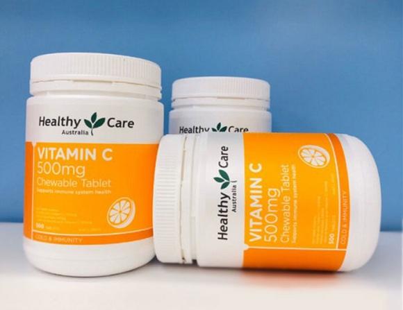 Viên nhai Vitamin C Healthy Care 500mg của Úc 500 viên 3