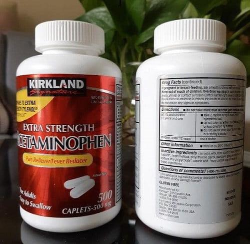 Kirkland Extra Strength Acetaminophen 500mg liều dùng-3