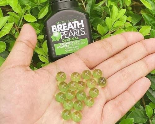 Cách sử dụng viên uống thơm miệng Breath Pearls-3