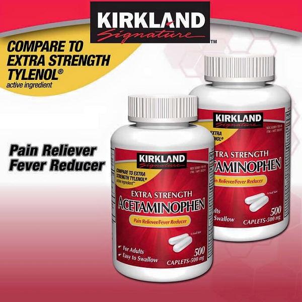 Thuốc giảm đau Kirkland Extra Strength Acetaminophen 500mg 6