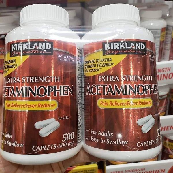 Thuốc giảm đau Kirkland Extra Strength Acetaminophen 500mg 9