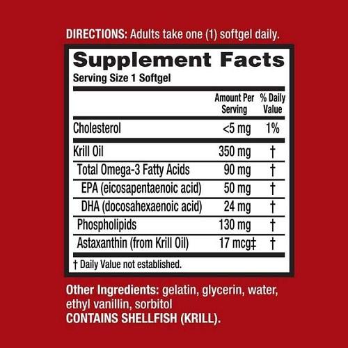 Dầu nhuyễn thể Schiff MegaRed Omega 3 Krill Oil của Mỹ 9