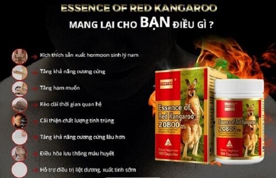 Essence of Red Kangaroo 20800 max của Úc cho nam giới 8