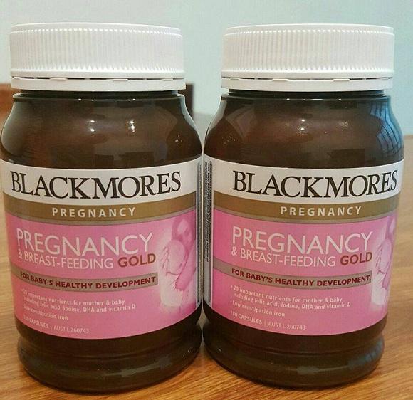 Vitamin bầu Blackmores Pregnancy Gold của Úc - Hộp 180 viên 0