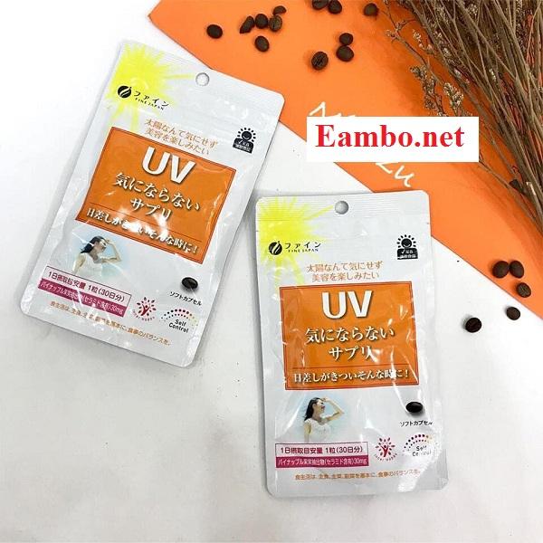 Viên uống chống nắng UV Fine Nhật chính hãng, giá tốt 12