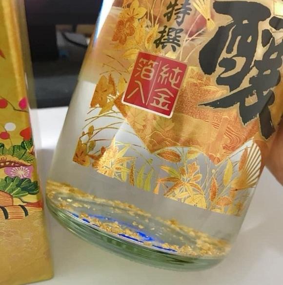 Rượu sake vẩy vàng Takara Shozu 1,8 lít mặt trời đỏ Nhật 7