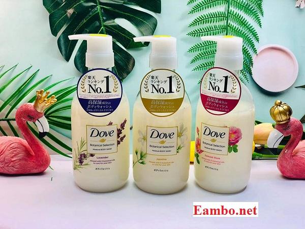 Sữa tắm Dove nội địa Nhật Botanical Selection 500g đủ 3 mùi 1