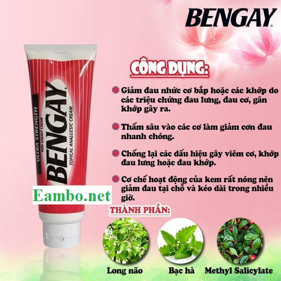 Kem xoa bóp giảm đau Bengay Ultra Strength 113g xách tay Mỹ 8