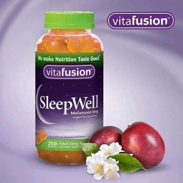 Kẹo dẻo ngủ ngon Vitafusion SleepWell 250 viên của Mỹ 0