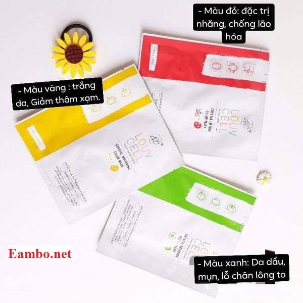 Mặt nạ chỉ tơ Louv Cell Hàn Quốc, hộp 7 miếng, giá tốt 7
