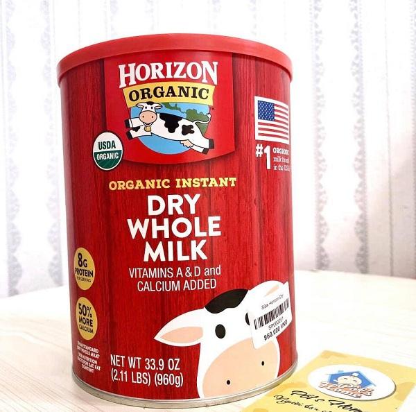 Sữa tươi Horizon Organic dạng bột có tốt không? Giải đáp 1