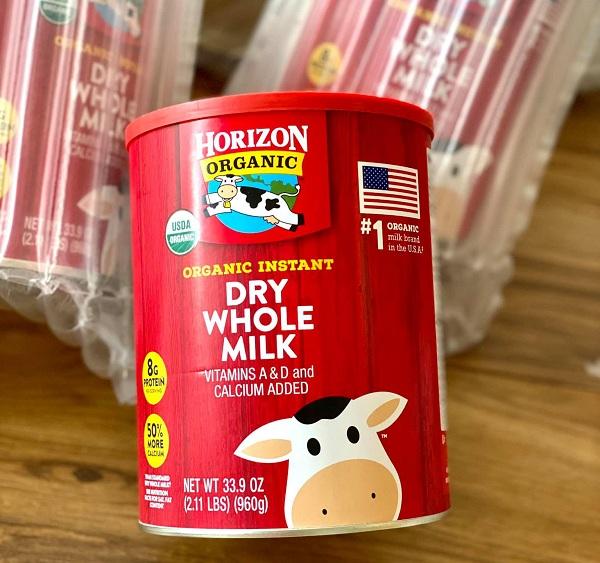 Sữa tươi Horizon Organic dạng bột có tốt không? Giải đáp