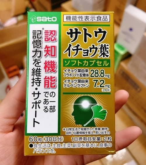 Viên uống Sato Ginkgo Biloba cách dùng hiệu quả-2
