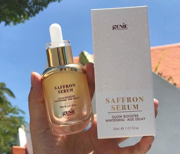 Serum Saffron Genie review chi tiết từ các khách hàng