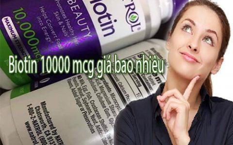 Thuốc mọc tóc Biotin 10000 mcg giá bao nhiêu?
